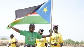 Juba, South Sudan, on the first day of voting for the referendum on independence