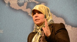 The elections in October 2011 are the greatest achievement of Tunisia's new government, according to Merhezia Lebidi Maiza, Ennahda member and deputy speaker of Tunisia's constituent national assembly, speaking at Chatham House on 21 March 2012