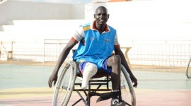 South Sudan wheelchair basketball team captain Gatluak Kual Luak