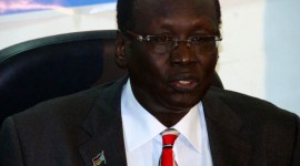 South Sudan's foreign minister Barnaba Marial Benjamin