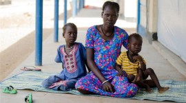 Nyayang Bol Biel, eight months pregnant, travelled hundreds of miles with her two children to reach the safety of Kakuma refugee camp in Kenya [Richard Nield/Al Jazeera]