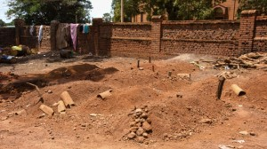 Burial site of victims of ethnic violence in Wau South Sudan in 2016