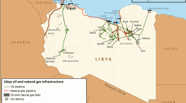 Libya oil infrastructure map