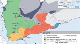 Frontlines in Yemen conflict October 2016