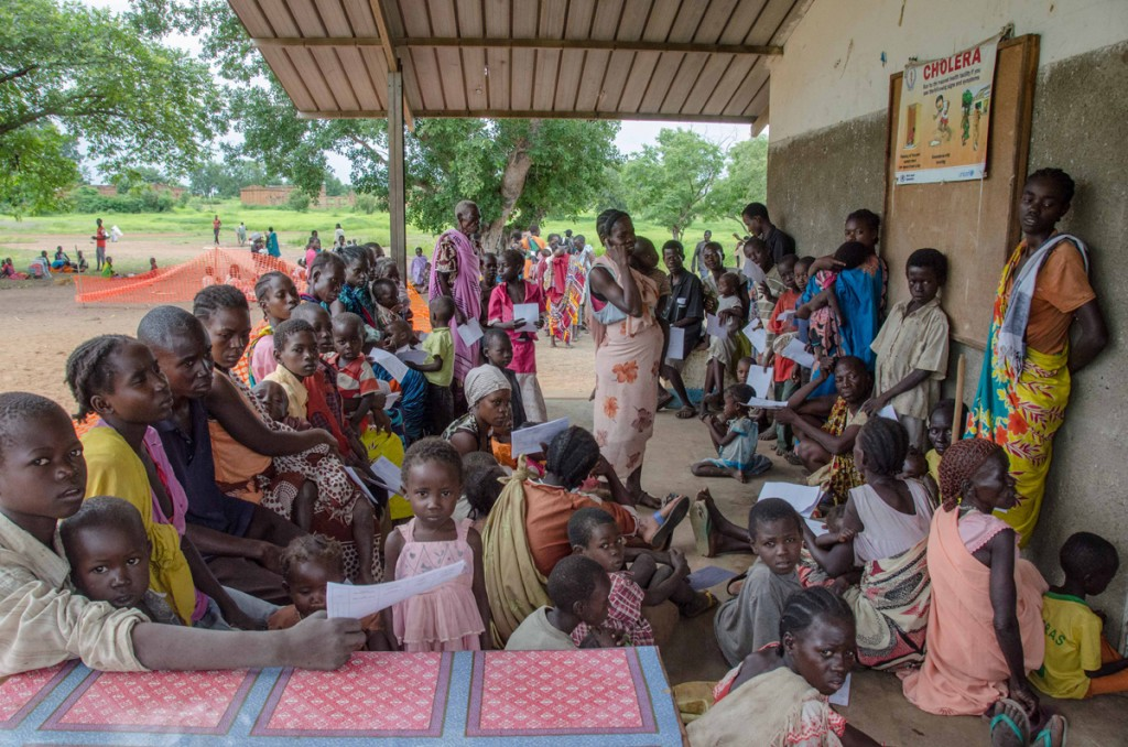 Medical facility in Mboro South Sudan for civilians displaced by government violence in Wau, June 2016